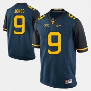 West Virginia Mountaineers Adam Jones Jersey #9 For Men's Alumni Football Game Blue
