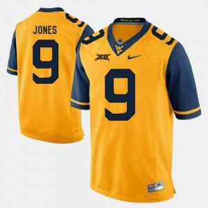 West Virginia Mountaineers Adam Jones Jersey Alumni Football Game #9 For Men Gold