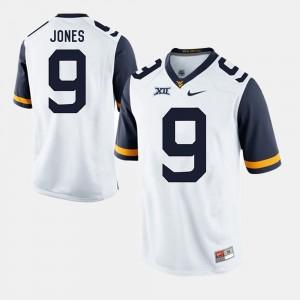 West Virginia Mountaineers Adam Jones Jersey White #9 Men's Alumni Football Game