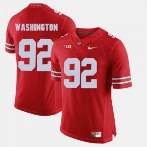 Ohio State Buckeyes Adolphus Washington Jersey Scarlet #92 Alumni Football Game For Men's