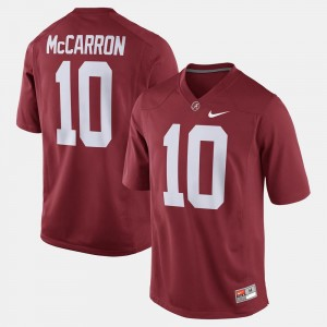Alabama Crimson Tide A.J. McCarron Jersey #10 For Men Alumni Football Game Crimson