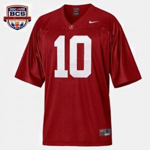 Alabama Crimson Tide A.J. McCarron Jersey College Football Men's #10 Red