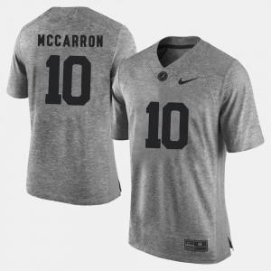 Alabama Crimson Tide A.J. McCarron Jersey #10 Gridiron Limited Gridiron Gray Limited Gray Men's