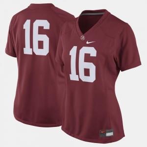 Alabama Crimson Tide Jersey #16 College Football Crimson Womens