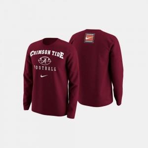 Alabama Crimson Tide Sweater College Football Retro Pack Crimson Men