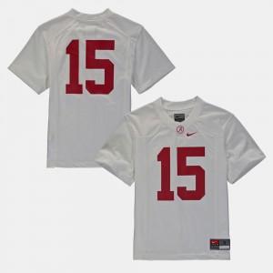 Alabama Crimson Tide Jersey College Football #16 Kids White