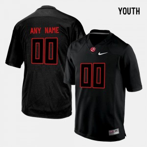 Alabama Crimson Tide Custom Jersey Black College Limited Football #00 For Kids