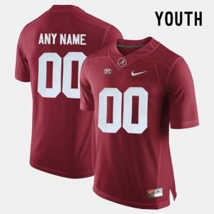 Alabama Crimson Tide Custom Jersey College Limited Football Crimson Youth(Kids) #00