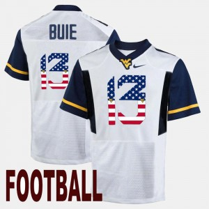West Virginia Mountaineers Andrew Buie Jersey US Flag Fashion White Men #13