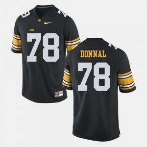 Iowa Hawkeyes Andrew Donnal Jersey #78 Alumni Football Game For Men's Black