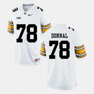 Iowa Hawkeyes Andrew Donnal Jersey Alumni Football Game #78 White Mens