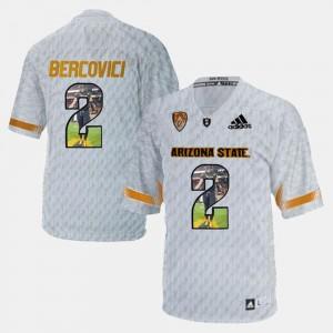 Arizona State Sun Devils Mike Bercovici Jersey #2 Player Pictorial White Men