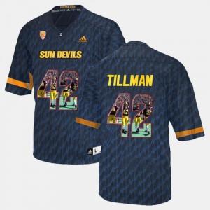 Arizona State Sun Devils Pat Tillman Jersey For Men Black #42 Player Pictorial