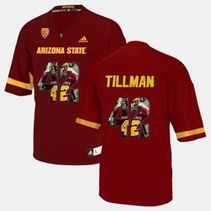 Arizona State Sun Devils Pat Tillman Jersey #42 Maroon For Men's Player Pictorial