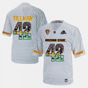 Arizona State Sun Devils Pat Tillman Jersey Player Pictorial Men #42 White