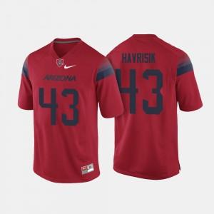 Arizona Wildcats Lucas Havrisik Jersey #43 Men College Football Red