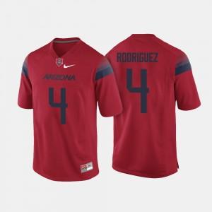 Arizona Wildcats Rhett Rodriguez Jersey Red College Football For Men #4