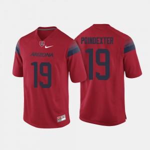 Arizona Wildcats Shawn Poindexter Jersey Men Red College Football #19