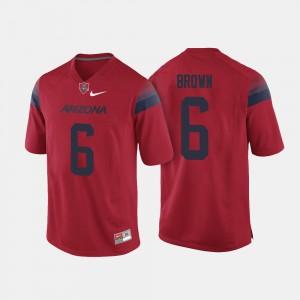 Arizona Wildcats Shun Brown Jersey Red College Football For Men's #6