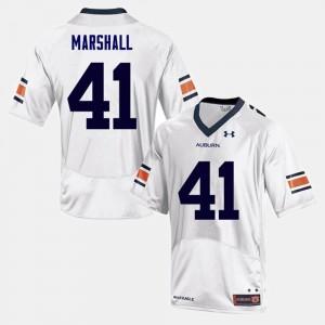 Auburn Tigers Aidan Marshall Jersey Men's #41 White College Football