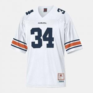 Auburn Tigers Bo Jackson Jersey College Football #34 For Men's White
