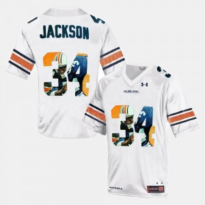 Auburn Tigers Bo Jackson Jersey White #34 Throwback Men's