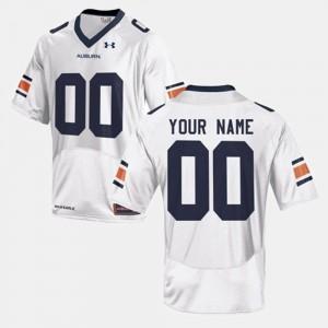 Auburn Tigers Custom Jersey Men's College Football #00 White