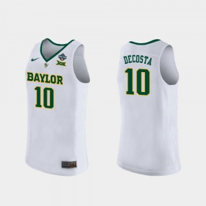 Baylor Bears Aquira DeCosta Jersey White Women 2019 NCAA Women's Basketball Champions #10