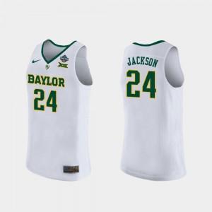Baylor Bears Chloe Jackson Jersey 2019 NCAA Women's Basketball Champions White #24 Women's