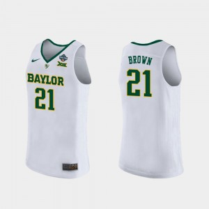 Baylor Bears Kalani Brown Jersey 2019 NCAA Women's Basketball Champions Women's White #21