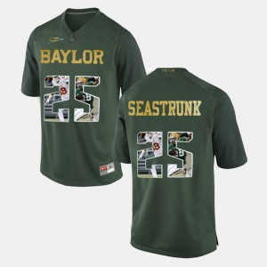 Baylor Bears Lache Seastrunk Jersey #25 Green Player Pictorial For Men