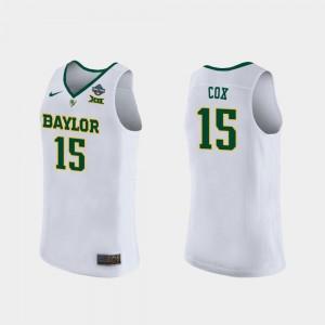 Baylor Bears Lauren Cox Jersey 2019 NCAA Women's Basketball Champions Womens #15 White