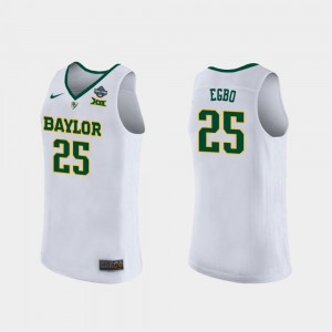 Baylor Bears Queen Egbo Jersey White Ladies 2019 NCAA Women's Basketball Champions #25