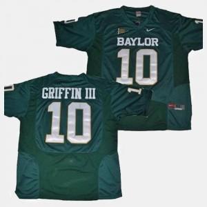 Baylor Bears Robert Griffin III Jersey For Men Green #10 College Football