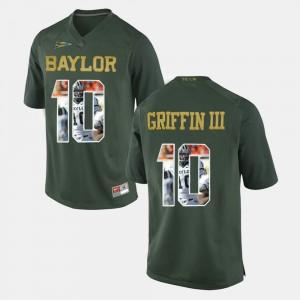 Baylor Bears Robert Griffin III Jersey Men's Green Player Pictorial #10