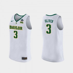 Baylor Bears Trinity Oliver Jersey For Women #3 2019 NCAA Women's Basketball Champions White