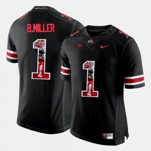Ohio State Buckeyes Braxton Miller Jersey Black For Men Pictorial Fashion #1
