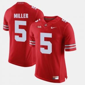 Ohio State Buckeyes Braxton Miller Jersey Scarlet Men Alumni Football Game #5