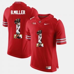 Ohio State Buckeyes Braxton Miller Jersey Scarlet #1 Pictorial Fashion Men