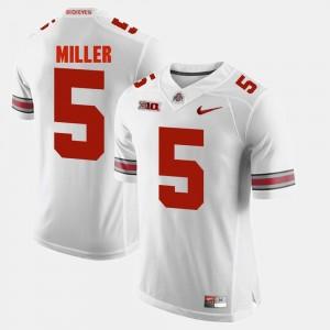 Ohio State Buckeyes Braxton Miller Jersey White For Men's #5 Alumni Football Game