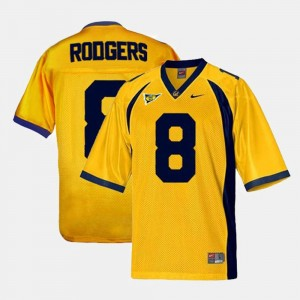 California Golden Bears Aaron Rodgers Jersey Gold #8 College Football For Men
