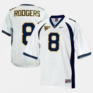 California Golden Bears Aaron Rodgers Jersey #8 White Men College Football