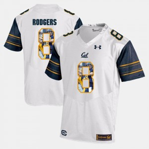 California Golden Bears Aaron Rodgers Jersey For Men's White Player Pictorial #8