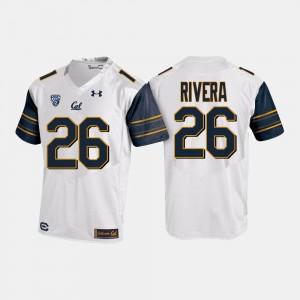 California Golden Bears Bug Rivera Jersey #26 Mens White College Football