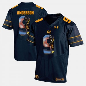 California Golden Bears C.J. Anderson Jersey Navy Blue Player Pictorial #9 Mens