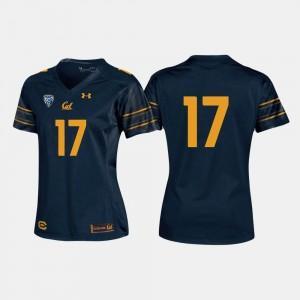 California Golden Bears Jersey College Football #17 Women's Navy