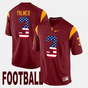 USC Trojans Carson Palmer Jersey US Flag Fashion For Men's Maroon #3