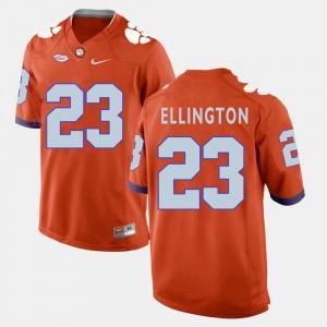 Clemson Tigers Andre Ellington Jersey Men's #23 Orange College Football