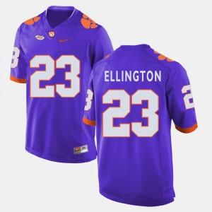 Clemson Tigers Andre Ellington Jersey Purple College Football #23 For Men