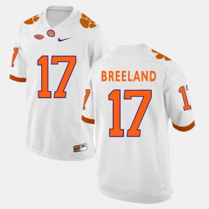 Clemson Tigers Bashaud Breeland Jersey #17 College Football White For Men